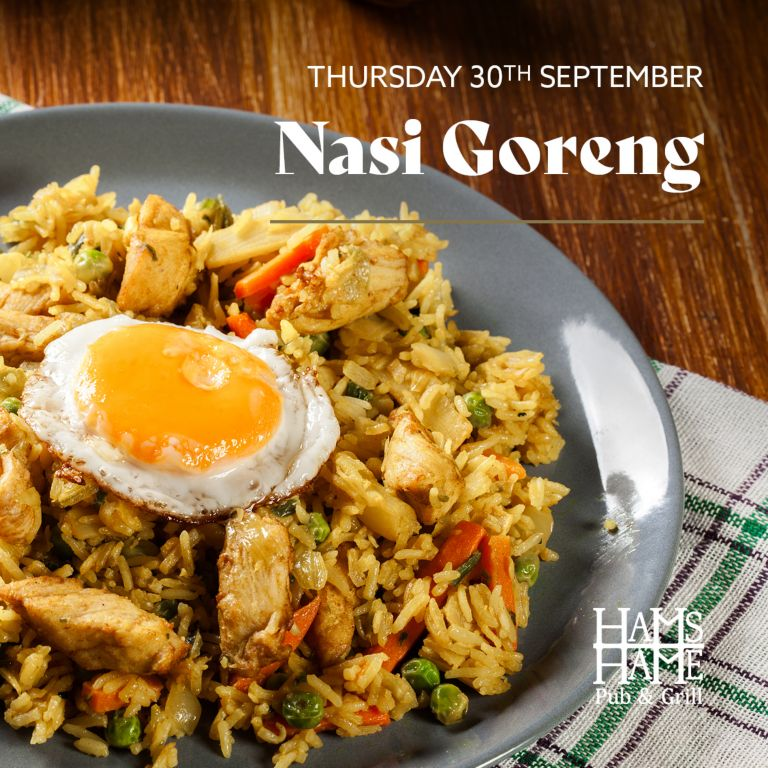 A bowl of Nasi Goreng