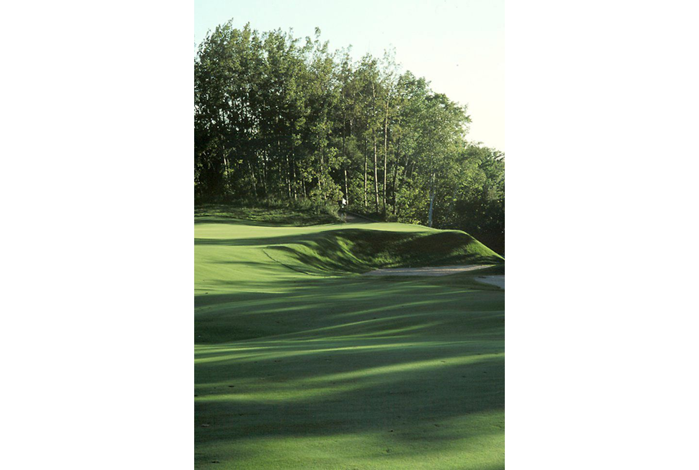 A view of the green of hole 7 on The River course.