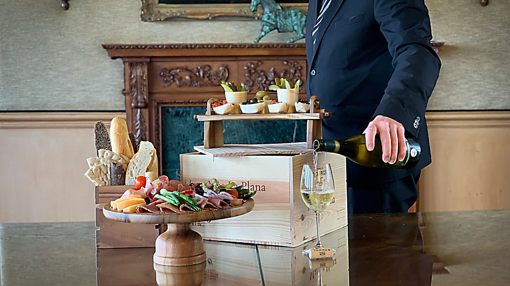 Cheese and Wine Display