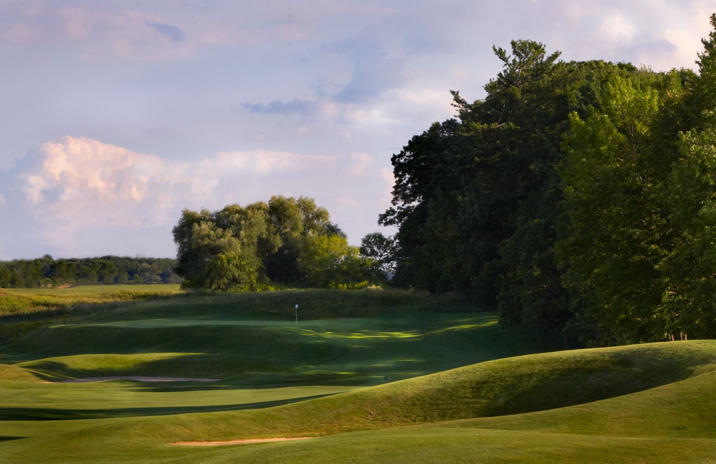 The near the green of the second hole of the Meadow Valleys course.