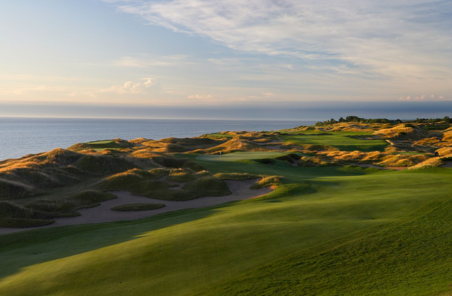 Hole 14 on Straits Course at Whistling Straits