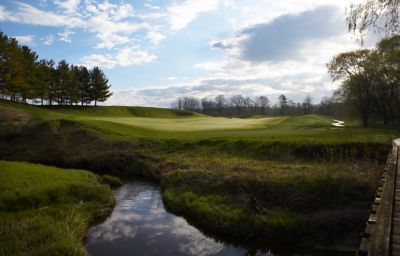 Weeden Creek on hole 13 of the Meadow Valleys course.