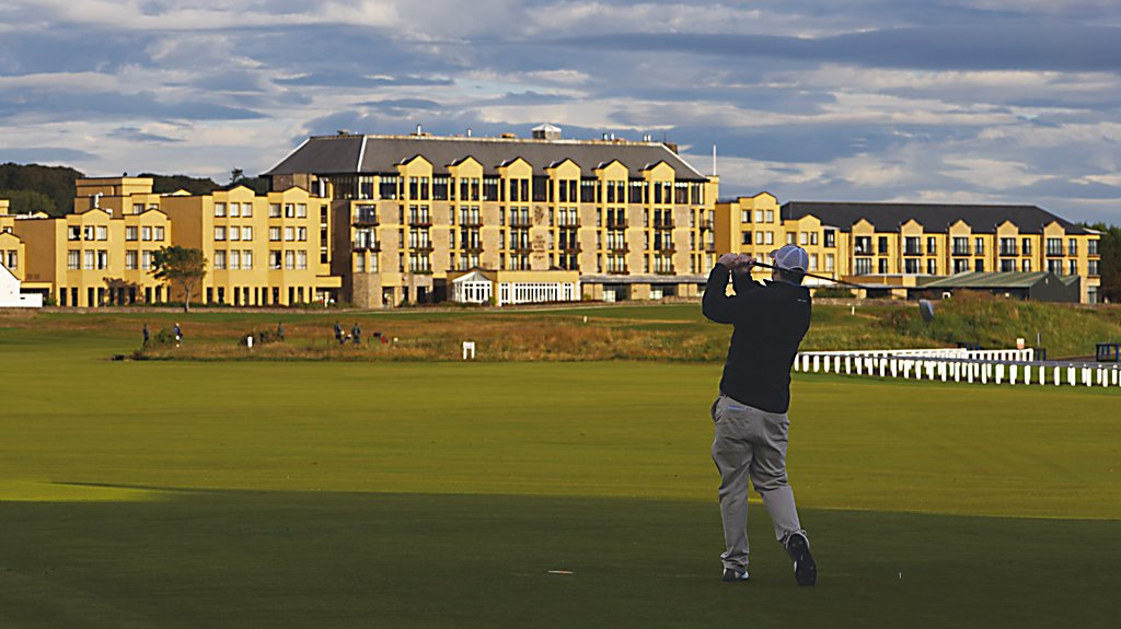 Golfer at Old Course Hotel, Golf Resort & Spa