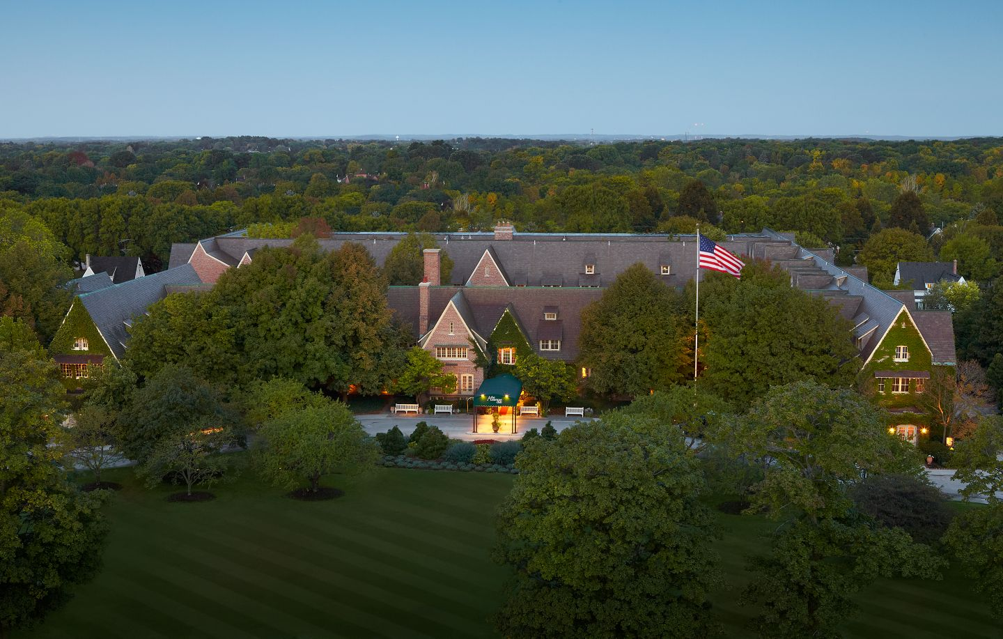 Evening Aerial View of The American Club