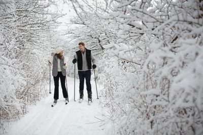 Cross-Country Skiing at River Wildlife