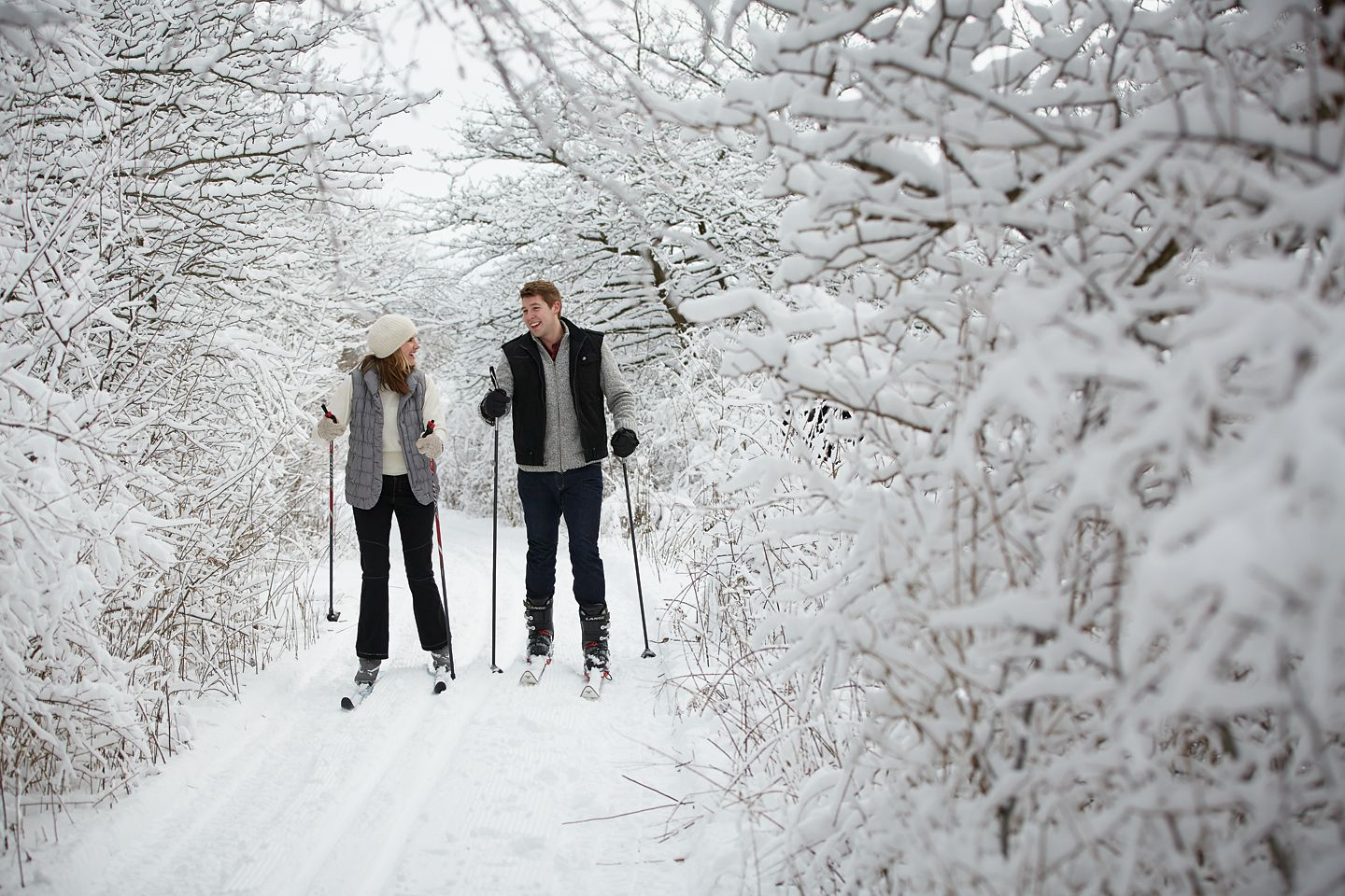 Cross country skiing at River Wildlife
