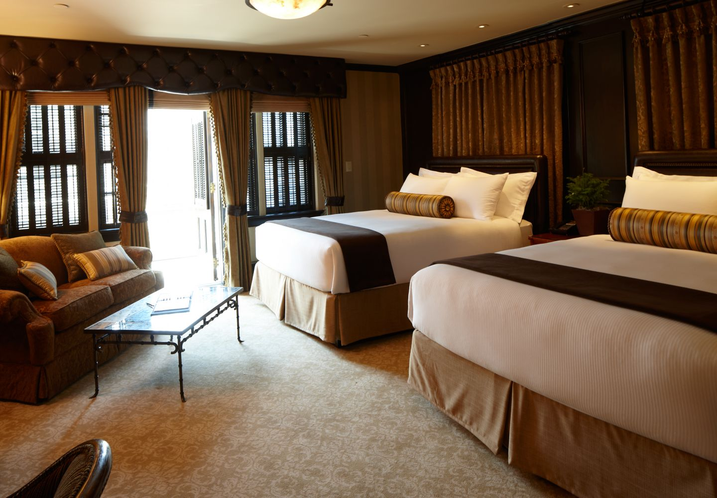 This is the Deluxe Room at the Carriage House