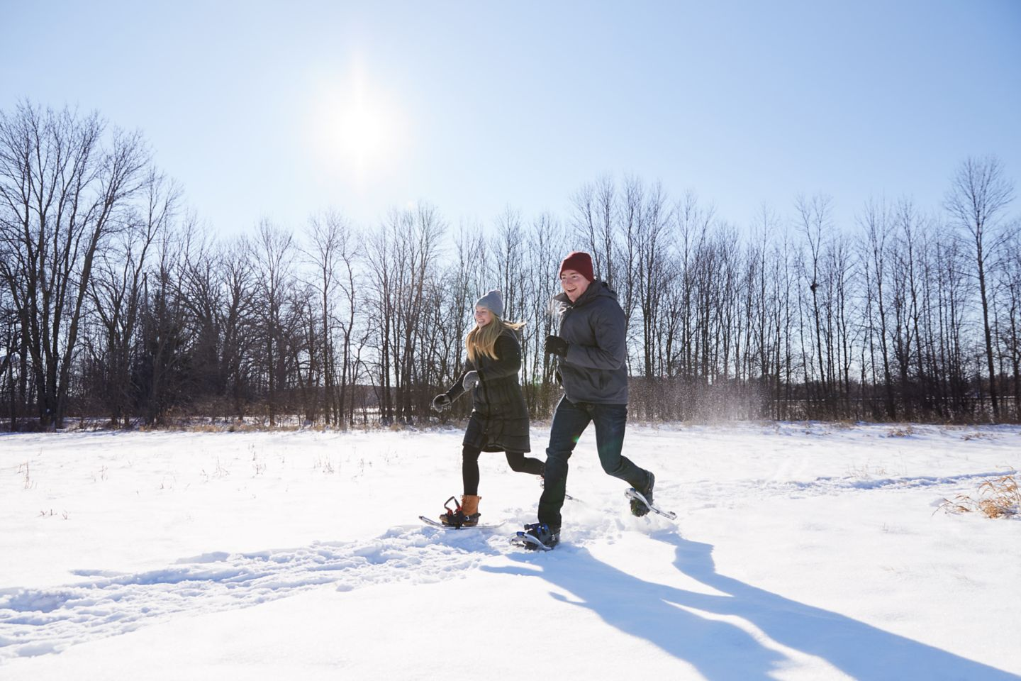 Snowshoeing at Destination Kohler