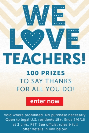 We Love Teachers! Sweepstakes