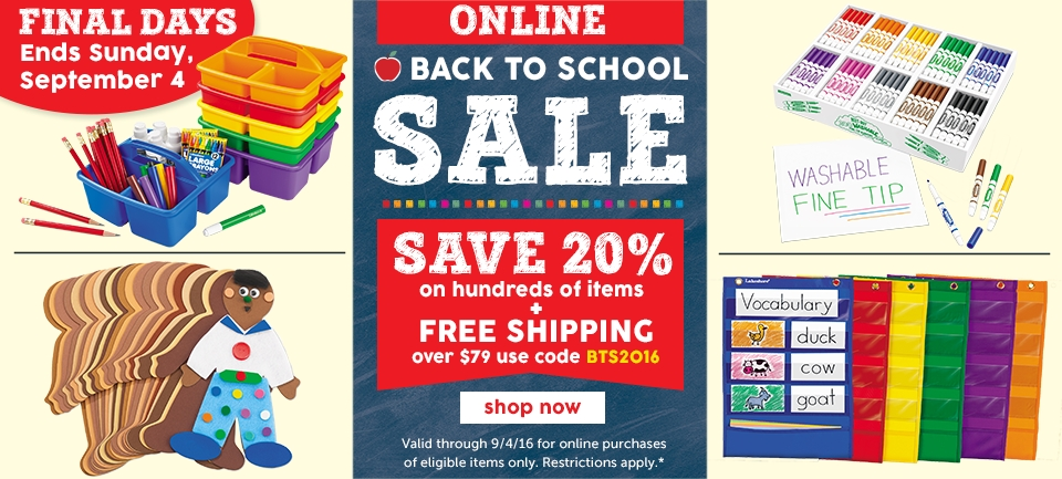 Online Back To School Sale