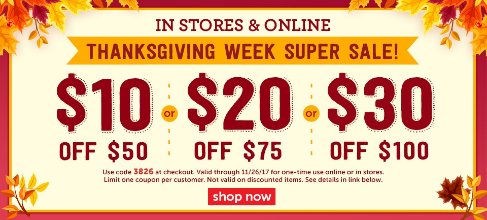 Thanksgiving Week Super Sale