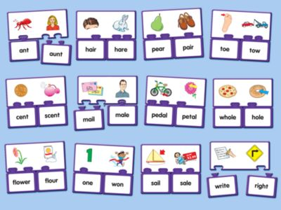 homophone matching game popflyboys