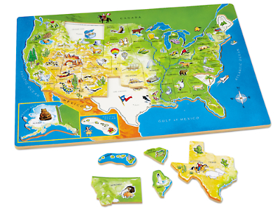 USA Map Puzzle At Lakeshore Learning - Puzzle us map