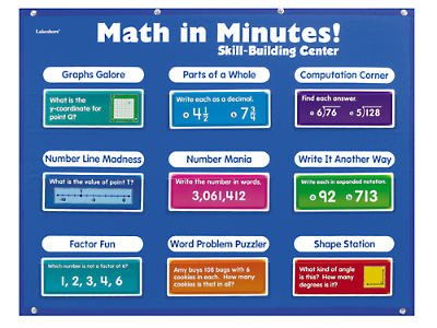 Math in Minutes! Skill-Building Center - Grade 4 at Lakeshore Learning