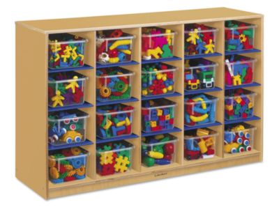 Cubby Storage Unit   Classic Birch 20 Cubby Storage Unit At Lakeshore  Learning
