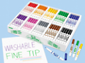 Washable Fine-Tip Markers - Class Pack