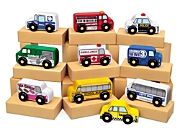 Hardwood Community Vehicles - Set of 10
