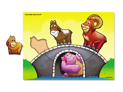 Three Billy Goats Gruff Puzzle at Lakeshore Learning