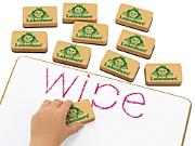 Write & Wipe Lapboard Erasers - Set of 10