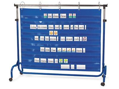 Extra wide adjustable pocket chart stand at lakeshore learning
