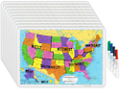Write & Wipe U.S.A. Tabletop Map - Set of 10
