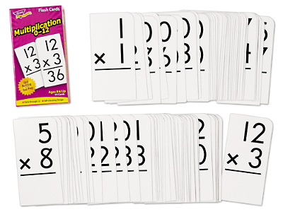 Multiplication 0-12 Flash Cards at Lakeshore Learning