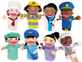 Let's Talk! Community Helpers Puppets - Complete Set