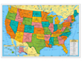 Write & Wipe U.S.A. Wall Map