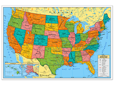 Write Wipe USA Wall Map At Lakeshore Learning - Wall map of usa