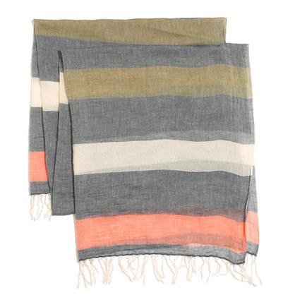 Fadestripe Scarf :  stripes style gauze scarf