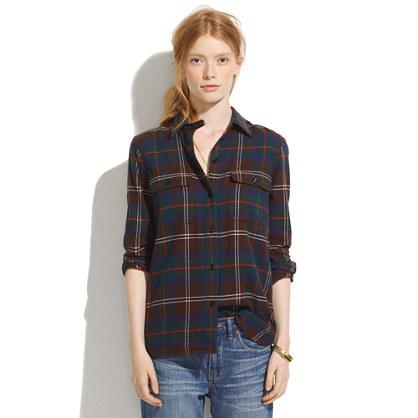 ex-boyfriend shirt in thicket plaid