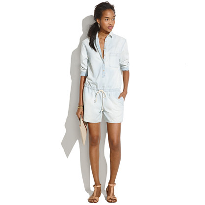Sale alerts for Madewell Chambray Hopskip Romper - Covvet