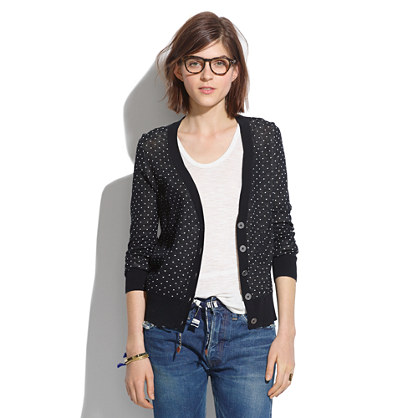 Sale alerts for Madewell Pindot Cardigan - Covvet