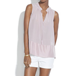 Silk Shadowbox Tunic Tank