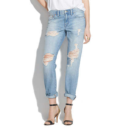 Sale alerts for Madewell The Boyjean: Worn and Torn Edition - Covvet