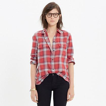 Ex-Boyfriend Shirt in Cherry Plaid