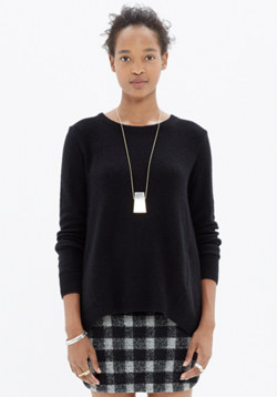 Back-Zip Pullover Sweater