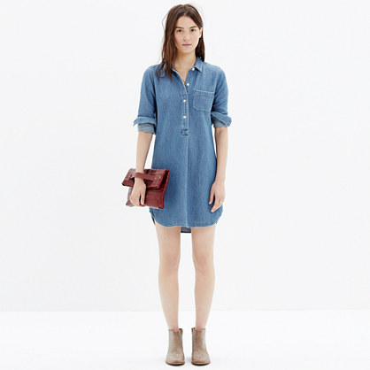 Chambray popover dress at madewell.com