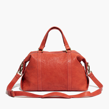 The Glasgow Satchel in Washed Leather