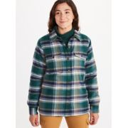 Women's Ridgefield Sherpa-Lined Long-Sleeve Flannel Shirt image number 3