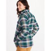 Women's Ridgefield Sherpa-Lined Long-Sleeve Flannel Shirt image number 4