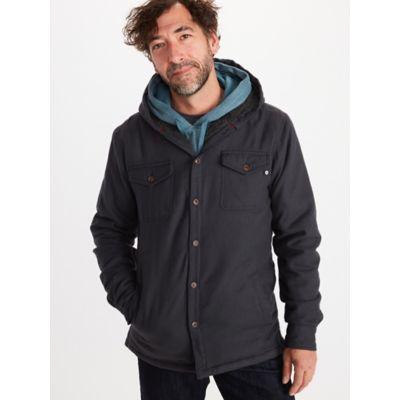 Men's Ridgefield Sherpa-Lined Flannel Hoody