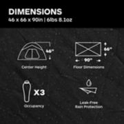 Tungsten Ultralight Hatchback 3-Person Tent image number 3