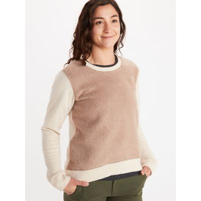 Women's Crew Neck Sherpa Sweatshirt