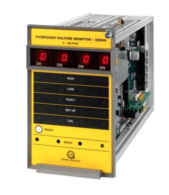 Monitor de gas de H2S de cuatro canales 2280A