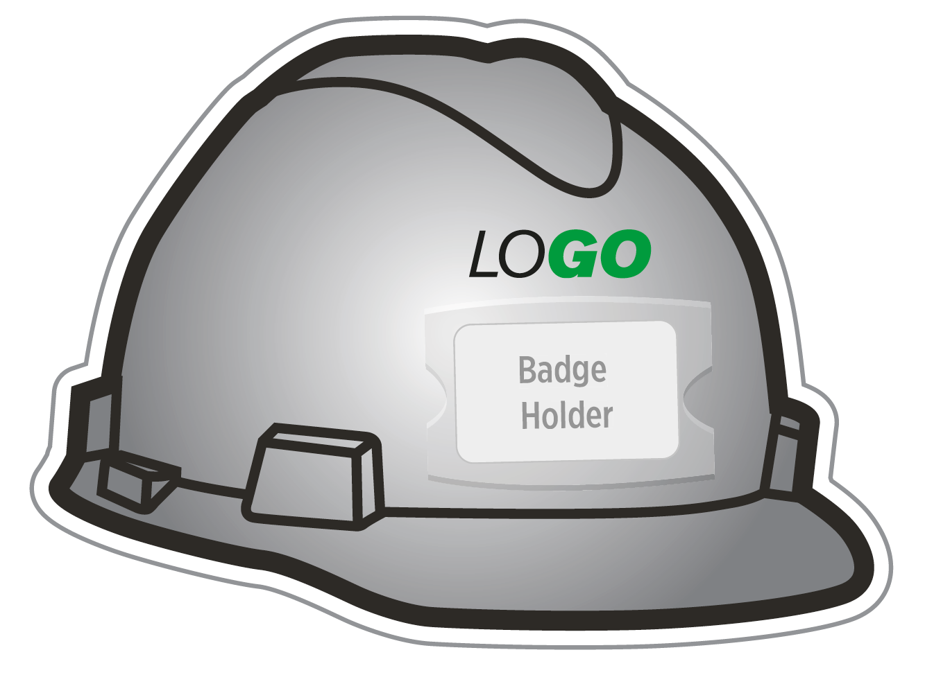 An icon of an MSA hard hat with a badge holder