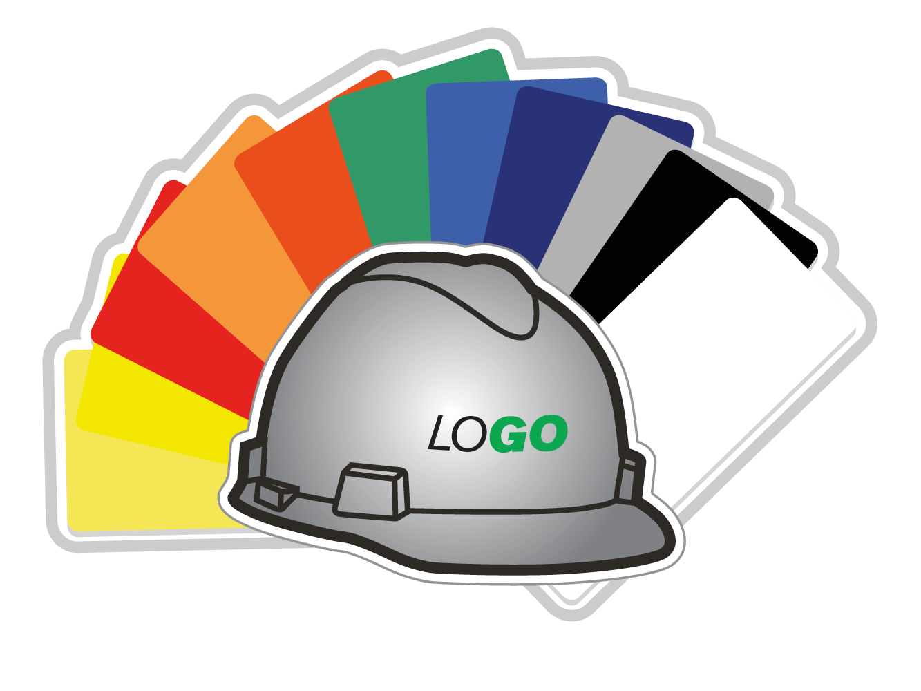 Logoed MSA hard hats are available in 10 colours