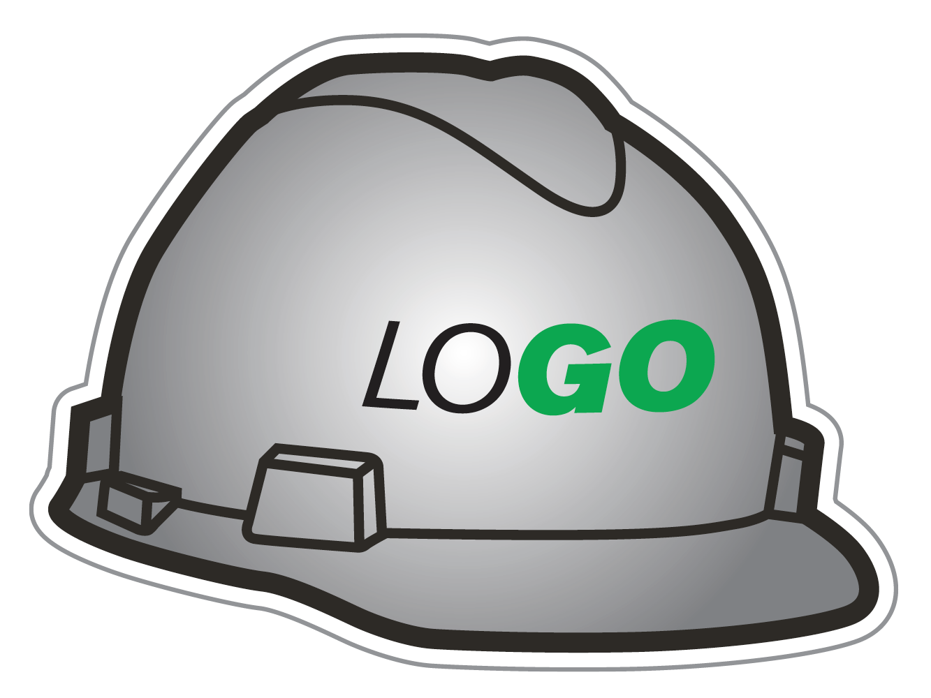 MSA hard hat icon with custom logo across the front
