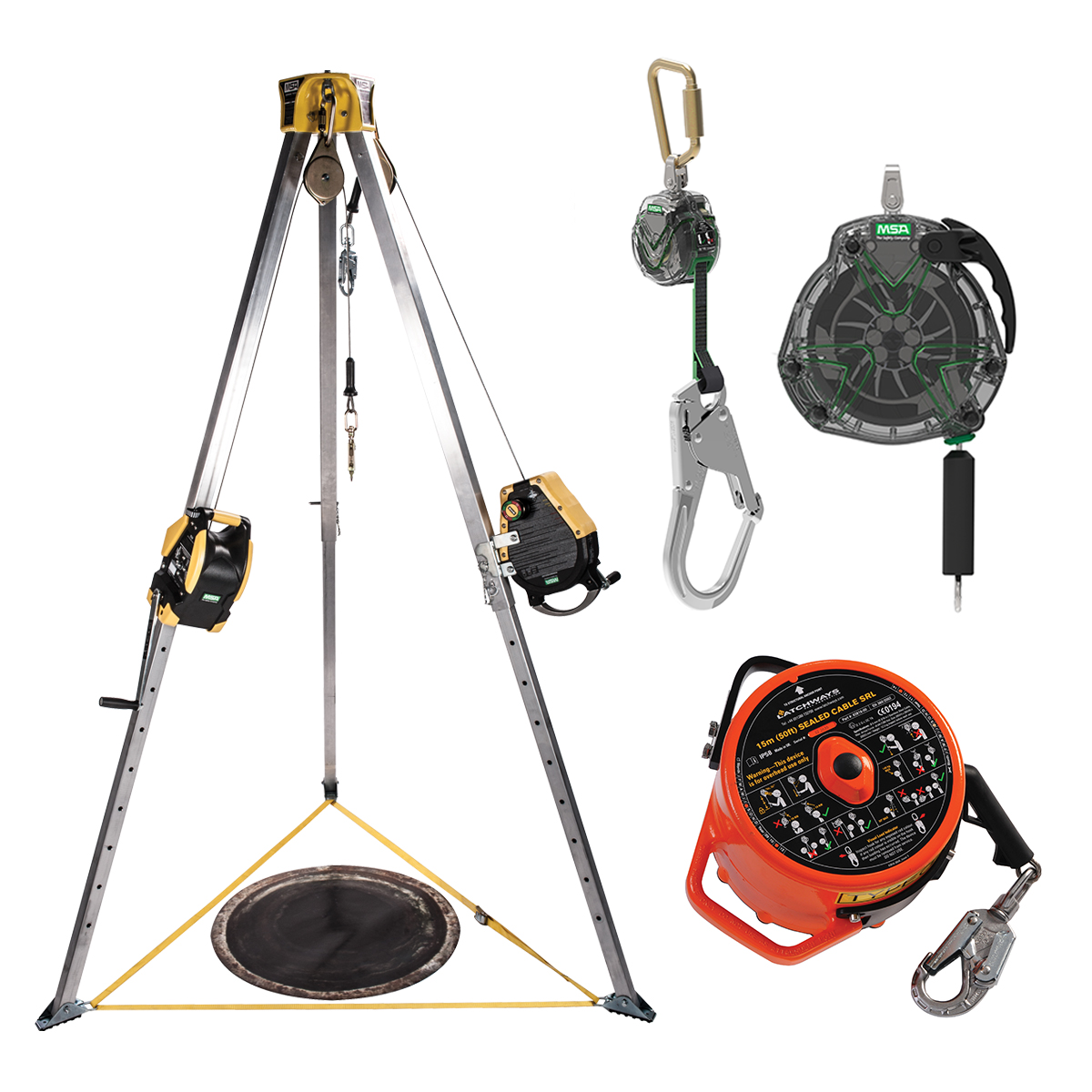 Group of MSA fall protection products