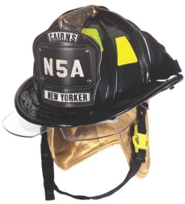 MSA Cairns leather fire helmet